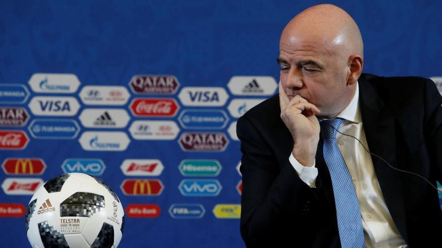 Gianni Infantino durante entrevista em Moscou - Sergei Karpukhi/Reuters