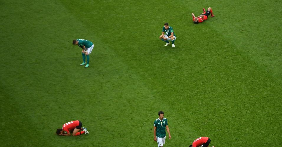 Alemães lamentam derrota, e sul-coreanos comemoram vitória