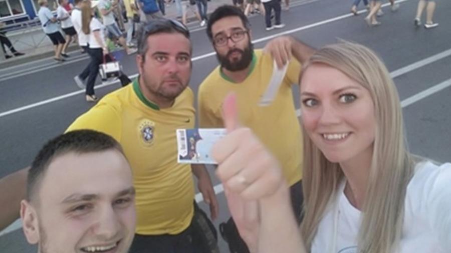 Gleb Obodovsky e a mulher, Marina, conseguiram achar os brasileiros com a ajuda das redes sociais - Reprodução