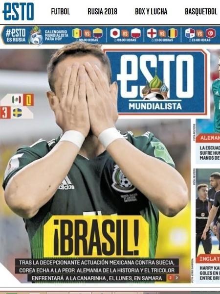Jornal mexicano lamenta cruzamento com o Brasil nas oitavas - Reprodução/Esto