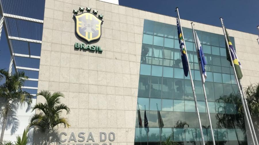 """Sede da CBF com a identificação de """"Casa do Futebol Brasileiro""""  - Pedro Ivo Almeida/UOL"""