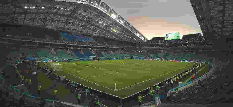 Estádio Olímpico de Fisht prestes a receber Portugal x Espanha na primeira fase da Copa do Mundo - REUTERS/Hannah McKay