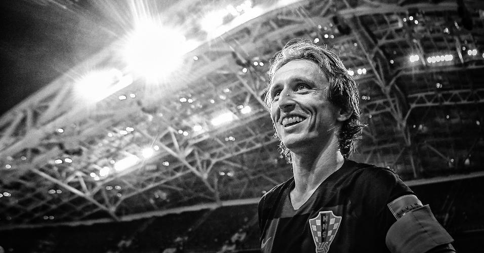 Luka Modric, meia da Croácia, após a equipe ter avançado à semifinal
