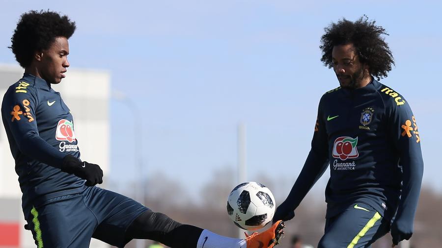 Willian troca passes com Marcelo; meia do Chelsea vive a melhor fase da carreira depois de mudar dieta - Pedro Martins/MoWa Press