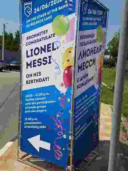 Cidada de Bronnitsy convida para festa em homenagem a Messi - Marcel Rizzo/UOL