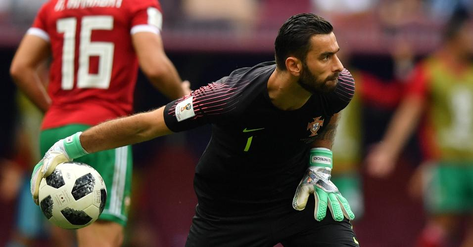 Rui Patricio fez boas defesas durante Portugal x Marrocos