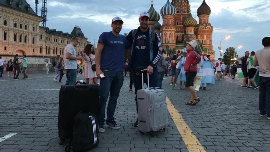 Argentinos chegam em Moscou com malas para ver a seleção argentina, já eliminada - Marcus Mesquita/UOL