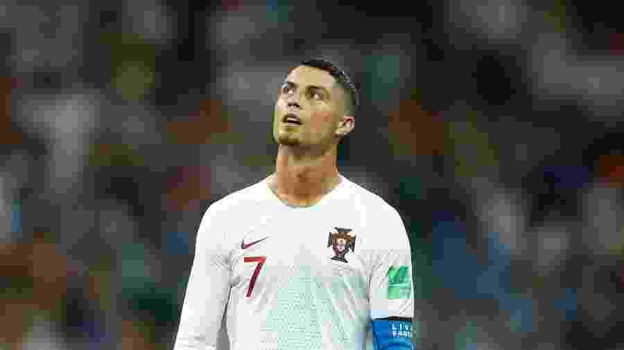 Cristiano Ronaldo na partida contra o Uruguai nas oitavas da Copa - AFP PHOTO / Odd ANDERSEN
