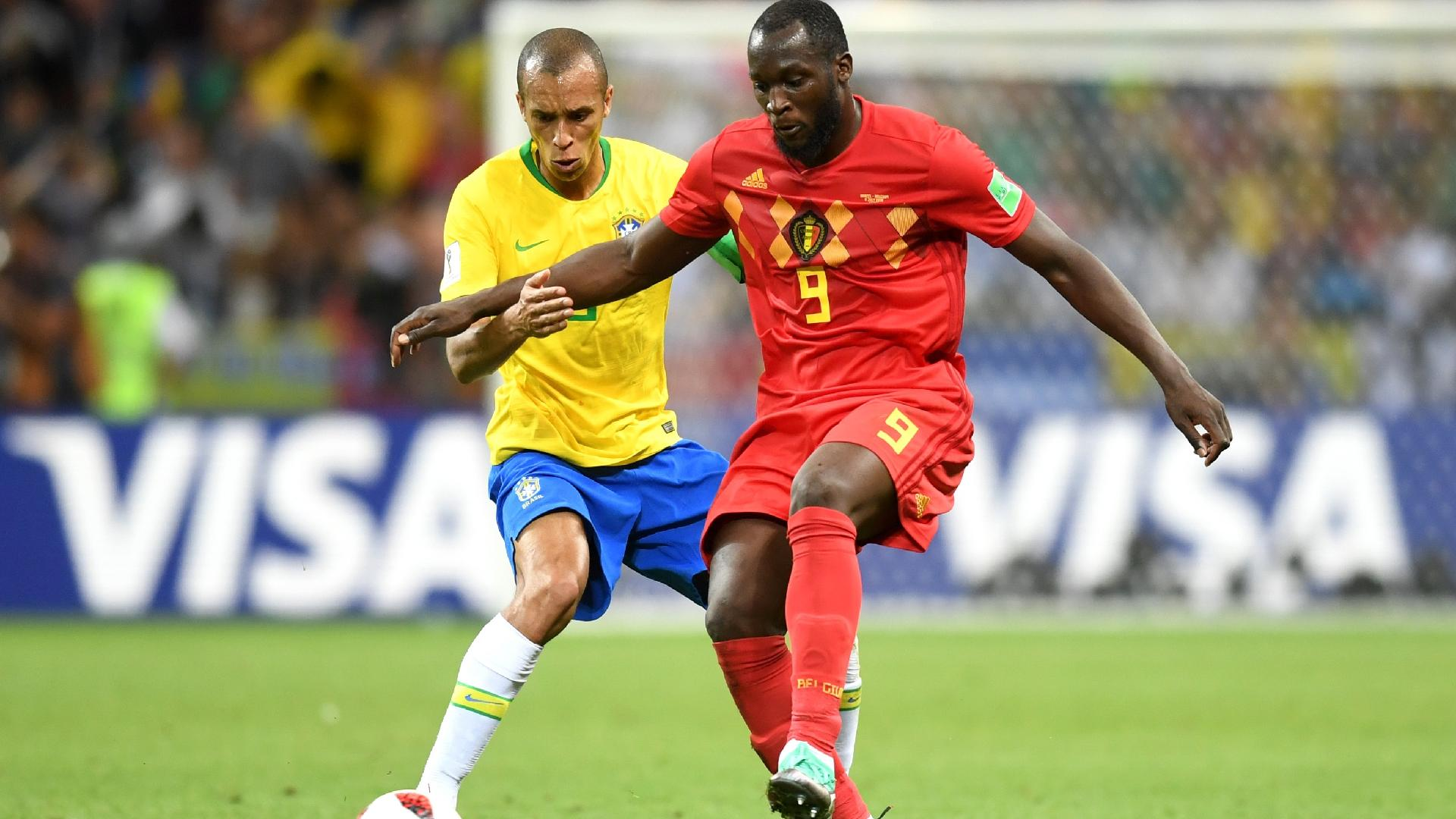 Lukaku Miranda disputa Bélgica Brasil