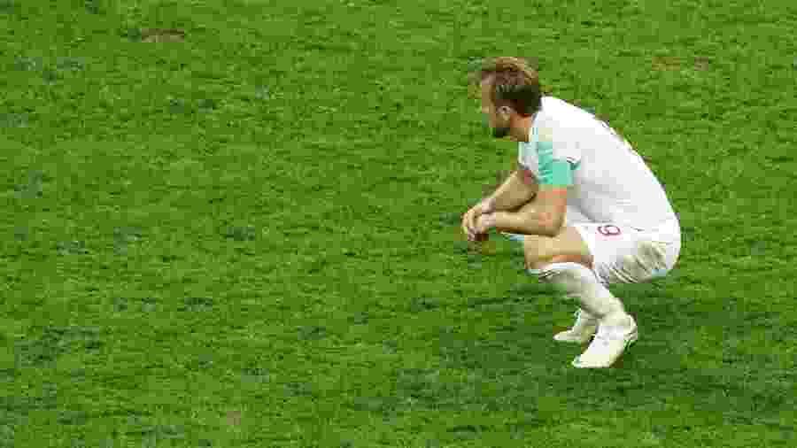 Henry Kane lamenta eliminação da Inglaterra na semifinal da Copa do Mundo - REUTERS/Damir Sagolj