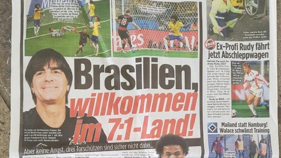 Jornal Bild provoca Brasil em dia de amistoso contra a Alemanha - Dassler Marques/UOL