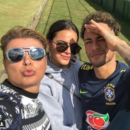 David Brazil, Bruna Marquezine e Neymar na Granja Comary - Reprodução/Instagram