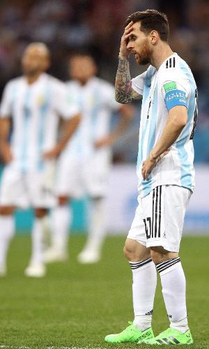 Messi, durante jogo da Argentina contra a Croácia