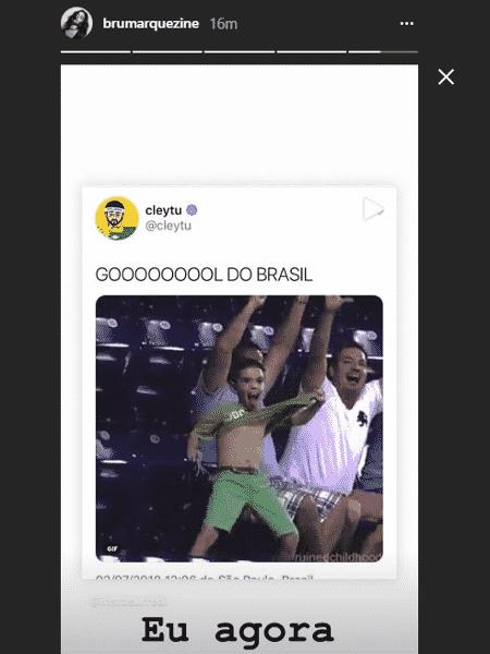 Marquezine comemora classificação do Brasil nas redes sociais - Reprodução/Instagram