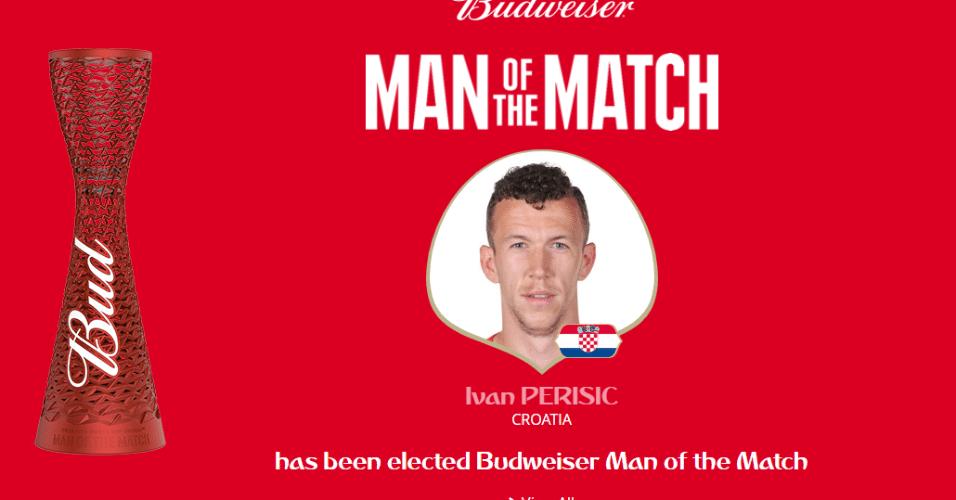 Após marcar o gol do empate, meia Ivan Perisic é eleito o melhor em campo de Croácia x Inglaterra