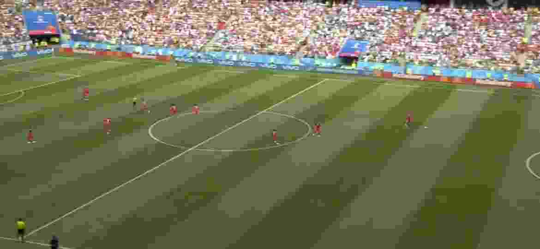 Cadê a Inglaterra? Panamenhos tentam anotar um gol enquanto os adversários festejavam um gol de Kane - Reprodução