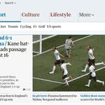 The Guardian ressalta goleada da Inglaterra por 6 a 1 - Reprodução