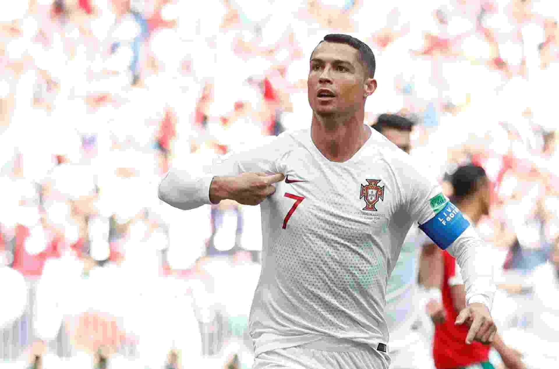 Cristiano Ronaldo abriu o placar de Portugal x Marrocos aos 4 minutos de partida em Moscou - Carl Recine/Reuters