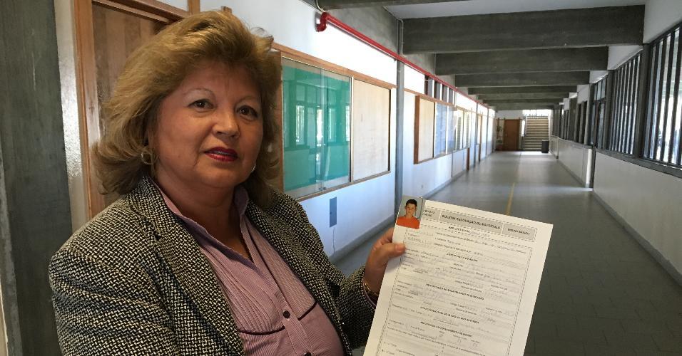 Cecília Sousa, 60 anos, bedel da escola em que Cristiano Ronaldo estudou na Ilha da Madeira