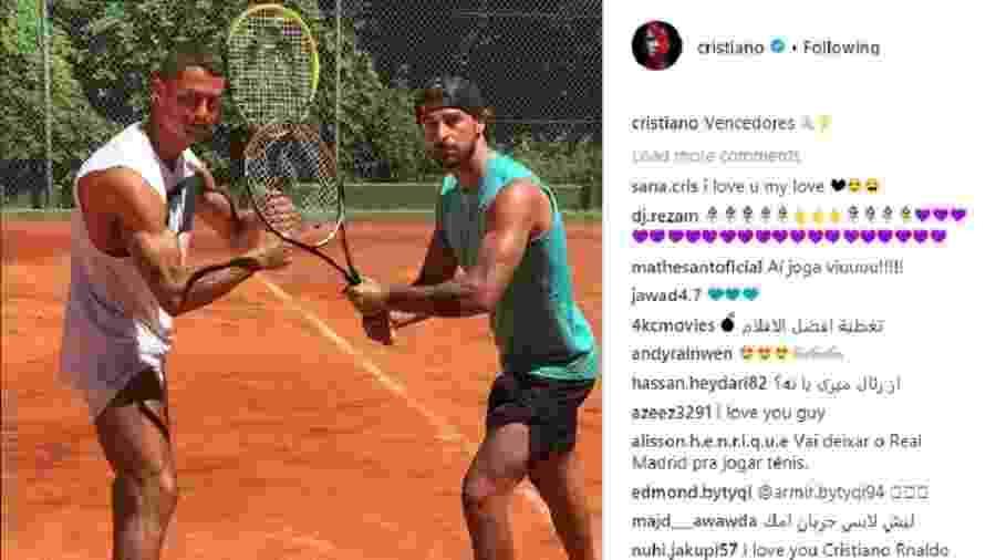 Cristiano Ronaldo posta foto após partida de tênis - Reprodução/Instagram