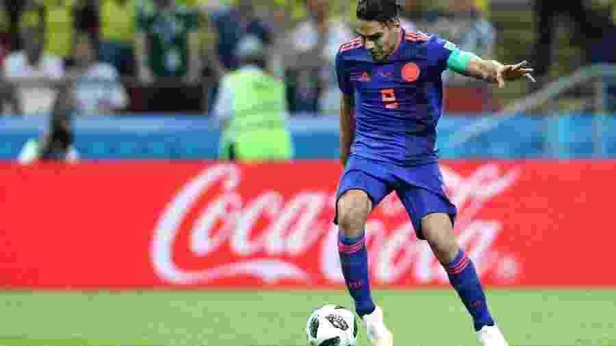 Falcao García em ação pela Colômbia durante a Copa do Mundo 2018 - Patrick Smith - FIFA/FIFA via Getty Images