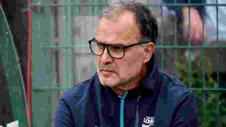 Marcelo Bielsa, hoje técnico do Lille, teve debate com Tite em congresso na CBF; argentino é admirado pelo treinador da seleção - AFP PHOTO / FRANCOIS LO PRESTI
