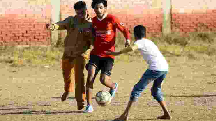 Salah criou um centro de treinamento para jovens em seu vilarejo, Nagrig - MOHAMED EL-SHAHED - MOHAMED EL-SHAHED