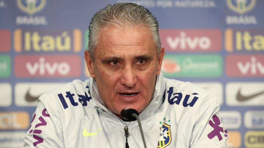 Tite concede entrevista coletiva um dia antes da partida contra a Alemanha - Andre Mourao/MoWa Press