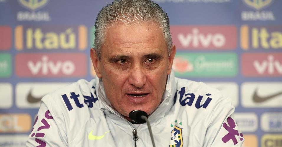 Tite concede entrevista coletiva um dia antes da partida contra a Alemanha