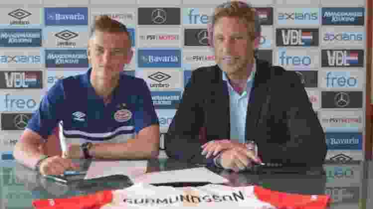 Gudmunsson no PSV - PSV Eindhoven/Divulgação - PSV Eindhoven/Divulgação