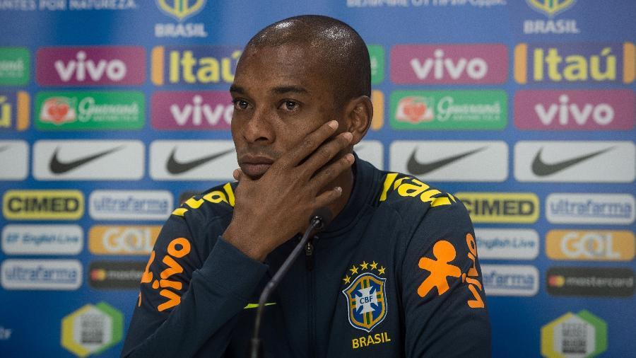 Fernandinho concede entrevista coletiva na seleção brasileira nesta quinta-feira - Pedro Martins / MoWA Press