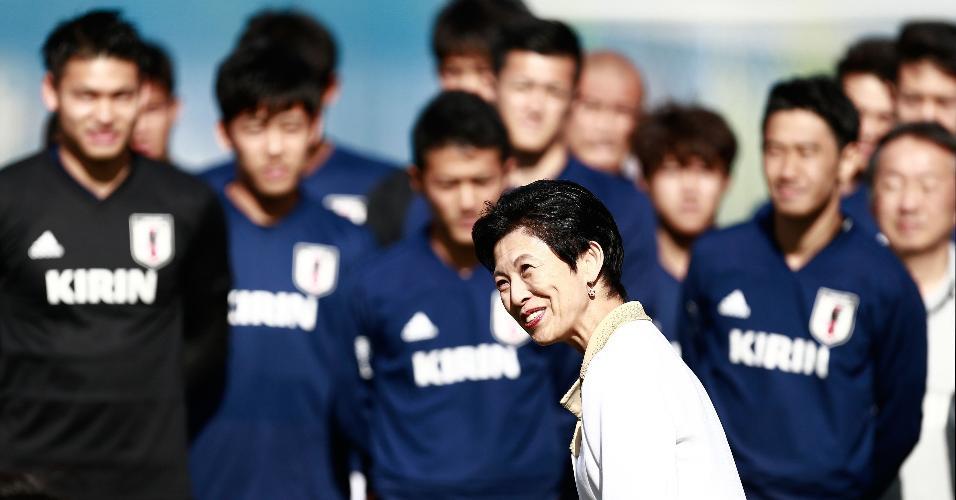 A princesa Isako Takamado visita a seleção japonesa na Rússia