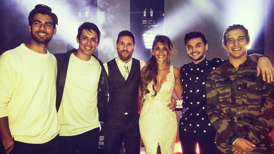 Messi e Antonella casaram e a banda uruguaia Marama se apresentou na festa - Reprodução/Twitter