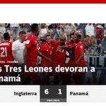 Capa do jornal espanhol AS sobre vitória da Inglaterra - Reprodução
