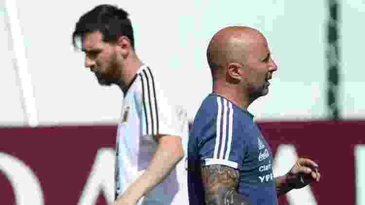 Messi e Sampaoli - Albert Gea/Reuters - Albert Gea/Reuters
