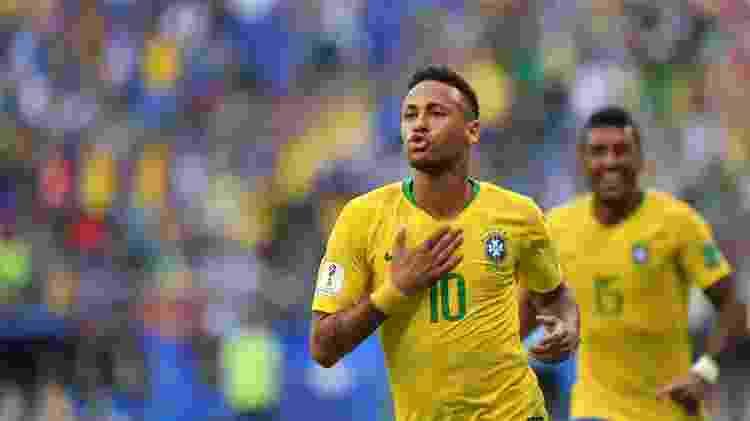 Neymar comemora o gol que marcou contra o México - AFP / Fabrice Coffrini - AFP / Fabrice Coffrini