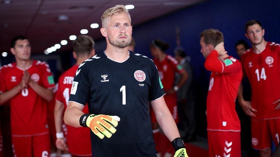 O goleiro Kasper Schmeichel, da Dinamarca - Adam Pretty - FIFA/FIFA via Getty Images