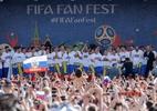 Seleção russa é ovacionada por multidão de torcedores em Moscou - MAXIM ZMEYEV/AFP