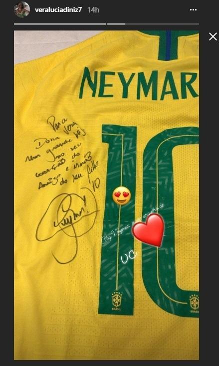 Neymar Brasil camisa Vera Lucia Gabriel Jesus