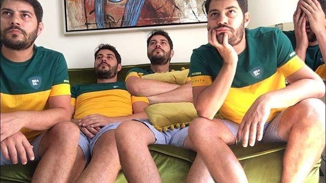 Evaristo Costa torcida Brasil Bélgica