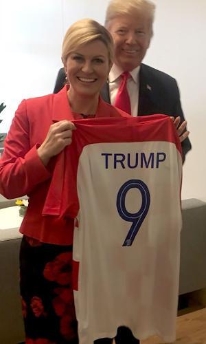 Presidente Croácia Trump camisa