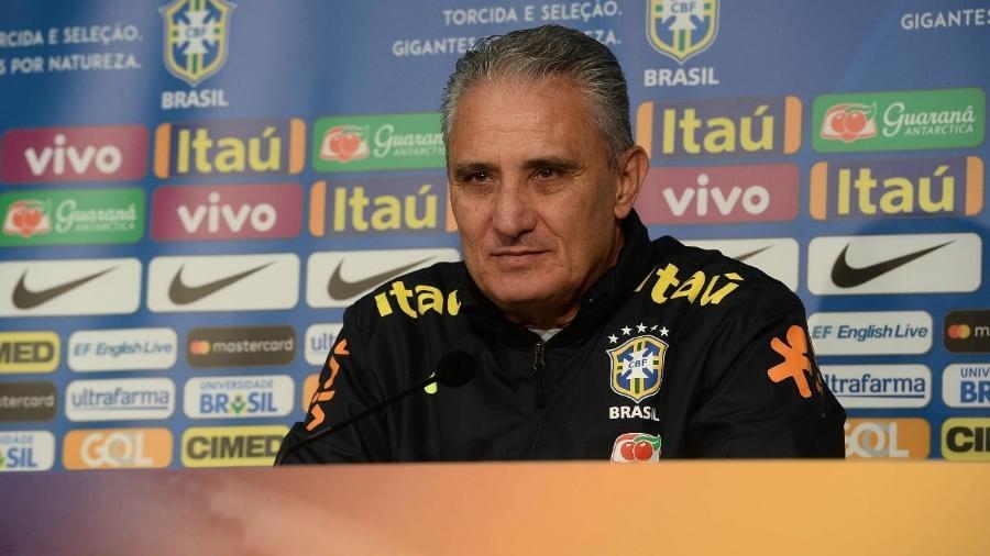Tite concede entrevista em Lille na véspera de amistoso da seleção brasileira contra o Japão - Pedro Martins/Mowa Press