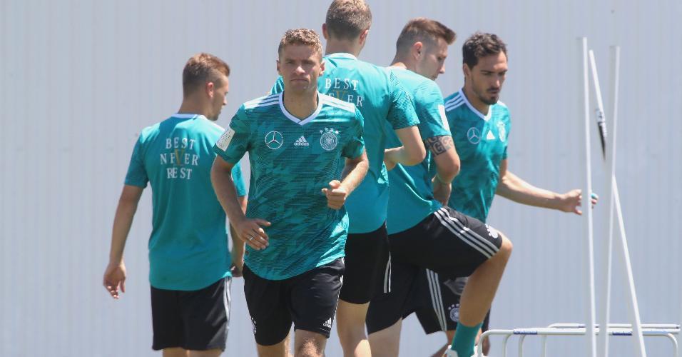 Seleção da Alemanha treina em Sochi, na Rússia