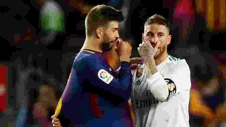 Piqué e Sergio Ramos estão no centro das questões envolvendo o clássico - Sergio Perez/Reuters
