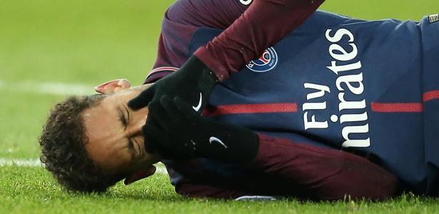 Neymar sofre lesão na partida entre PSG e Olympique de Marselha