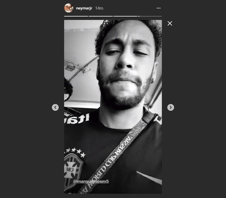Neymar posta vídeo com Marquinhos dançando
