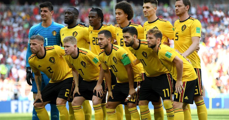 Time belga posa antes de duelo Bélgica x Tunísia