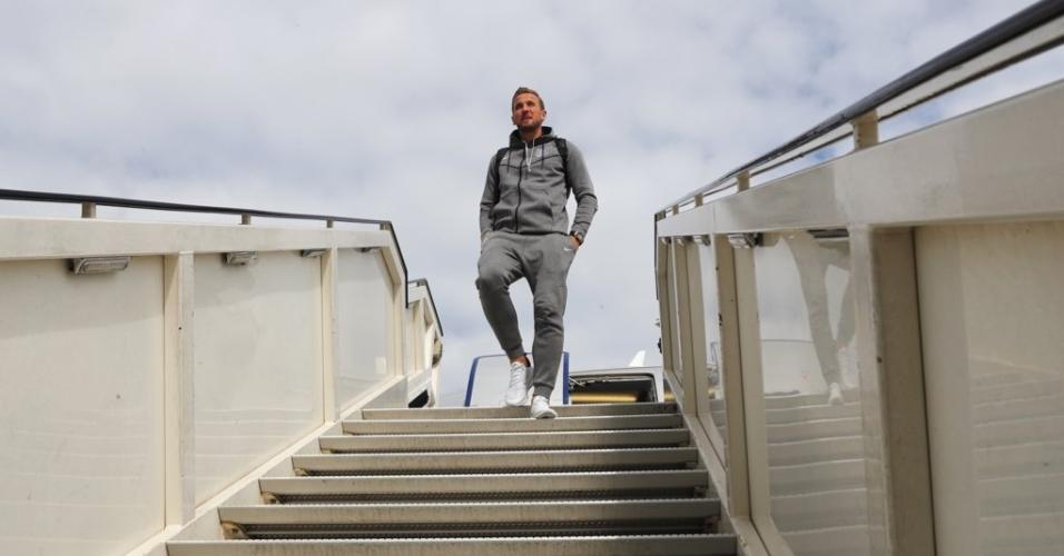 Kane chega Moscou Inglaterra Copa do Mundo