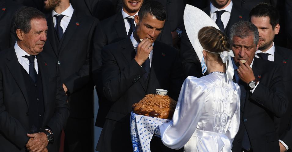 Cristiano Ronaldo pão russo