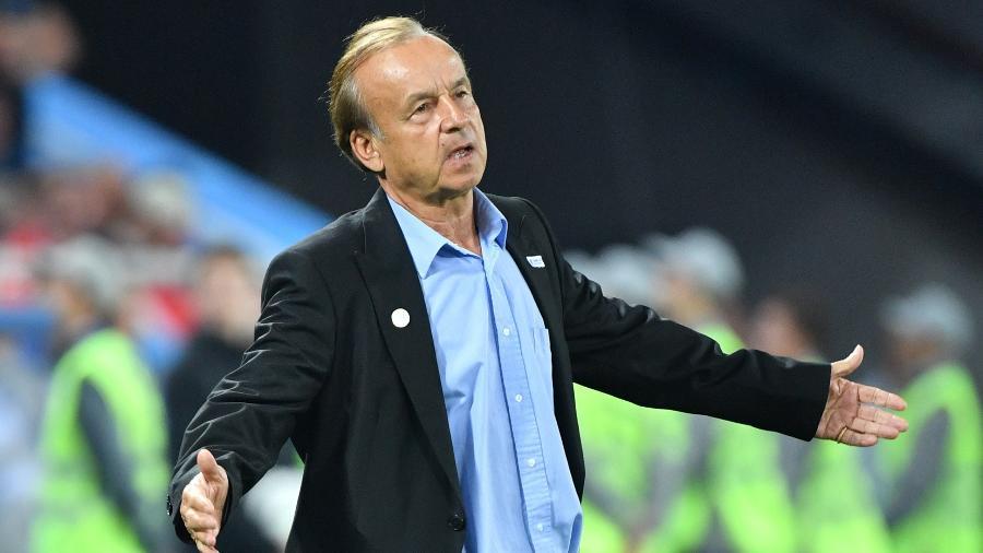 O técnico Gernot Rohr lamenta derrota da Nigéria contra a Croácia - Xinhua/Liu Dawei